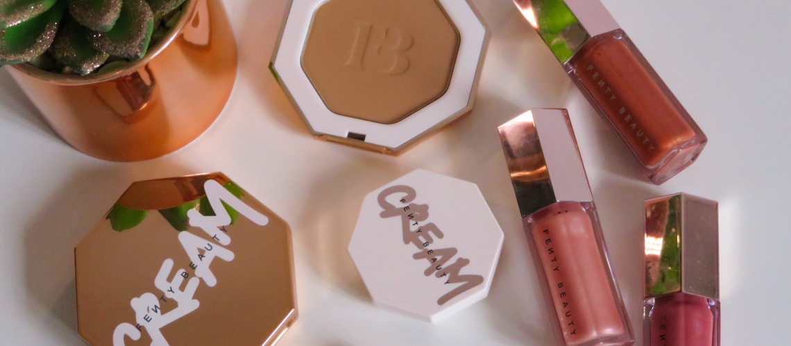 Fenty Beauty products on a white background